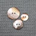 524 - Knopf Perlmutt natur braun - 15mm