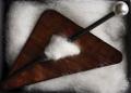 Dreieckbrosche Perlmutt - bronze